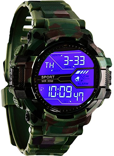Gubbarey Water Resistant Analogue Multicolour Dial Sports Watch (green02)