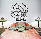 yaoxingfu Elefante Circo Arte Adorno Tribal de Vinilo de Pared Mural extraíble Calcomanía de Bricolaje Dormitorio Etiqueta de la Pared Bebé Nursery Tatuaje de Pared Caliente L110 cm x 110 cm