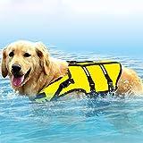 Wishdeal Sicherheitsweste für große Hunde, zum Surfen und Schwimmen, Oxford-Gewebe, atmungsaktiv, Bulldogge