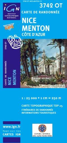 Nice - Menton 1 : 25 000 (Ign Map)