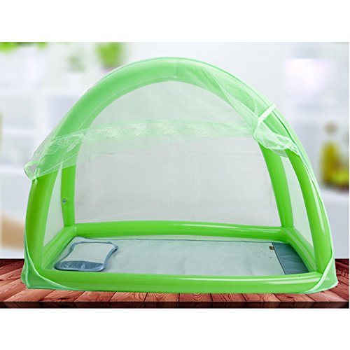 Preisvergleich Produktbild MYENG Neue aufblasbare Baby Nets Cover Neugeborene große zusammenklappbare Verschlüsselung Portable Moskito Schutz Kinder General Yurts , green