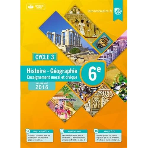 Histoire-Géographie-EMC 6e : Manuel élève