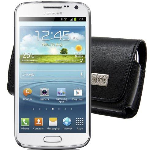 MTT Original Quer-Tasche mit Gürtelclip für Samsung Galaxy Premier i9260 schwarz