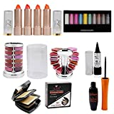 Adbeni Summer Vacation Combo Offer Makeup Set (10 Color Eyeshadow,Eyeliner-1pc,Lipgloss Pallet 12 Color,Kajal-1pc,Compact Powder-1pc,Lipstick-4 pcs)