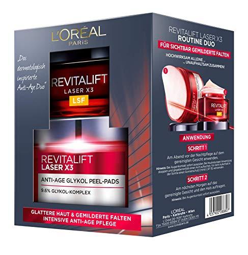L \'Oréal Paris Cuidado Facial Juego revitalift Laser X3rutina Duo Set de regalo, 20ml