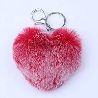ZPL Moda accessori di borsa portachiavi a forma di cuore di Rex Rabbit carino , 4