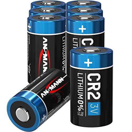 ANSMANN CR2 3V Lithium Batterie - 8er Pack CR2 Batterien geeignet für Haushaltsgeräte, Messgeräte und mehr - Einwegbatterie