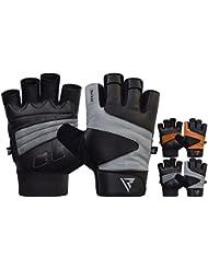 RDX Cuir Vachette Fitness Gants de Musculation Gymnastique Entrainement Gym Gloves Halterophilie