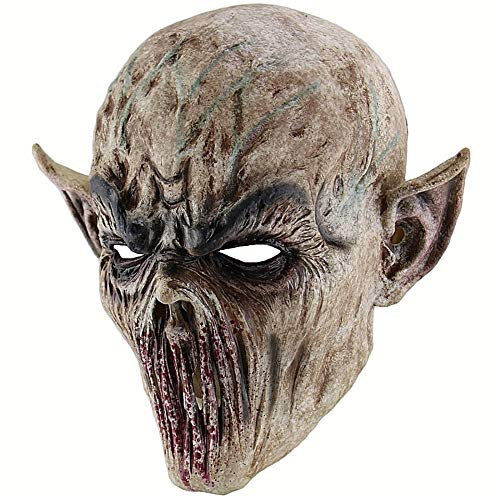 WWVAVA Maske Halloween Bloody Scary Horror Maske Erwachsene Zombie Monster Vampir Maske Latex Kostüm Party Vollkopf Cosplay Maske Maskerade Requisiten, 1