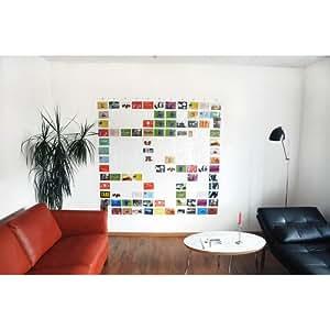 Duschvorhang / Taschenvorhang (HAB & GUT, DV005) mit 143 Taschen 180 x 180
