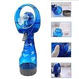 Battery Operated hand held water spray cooling fan / spray bottle with fan