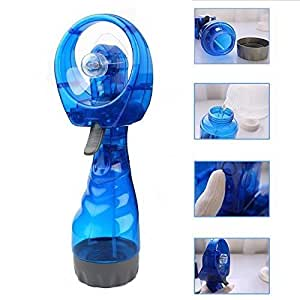 battery hand fan. battery operated hand held water spray cooling fan / bottle with h