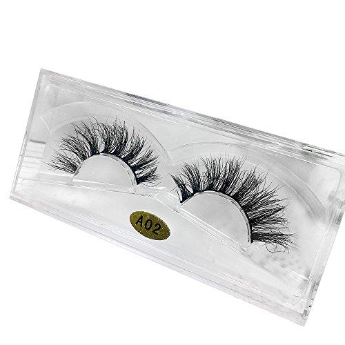 Falsche Wimpern Jamicy® 1 Paar 3D Natürliche Multi Layer Dickes Kreuz Auge Wimpern Falsche Wimpern (B)