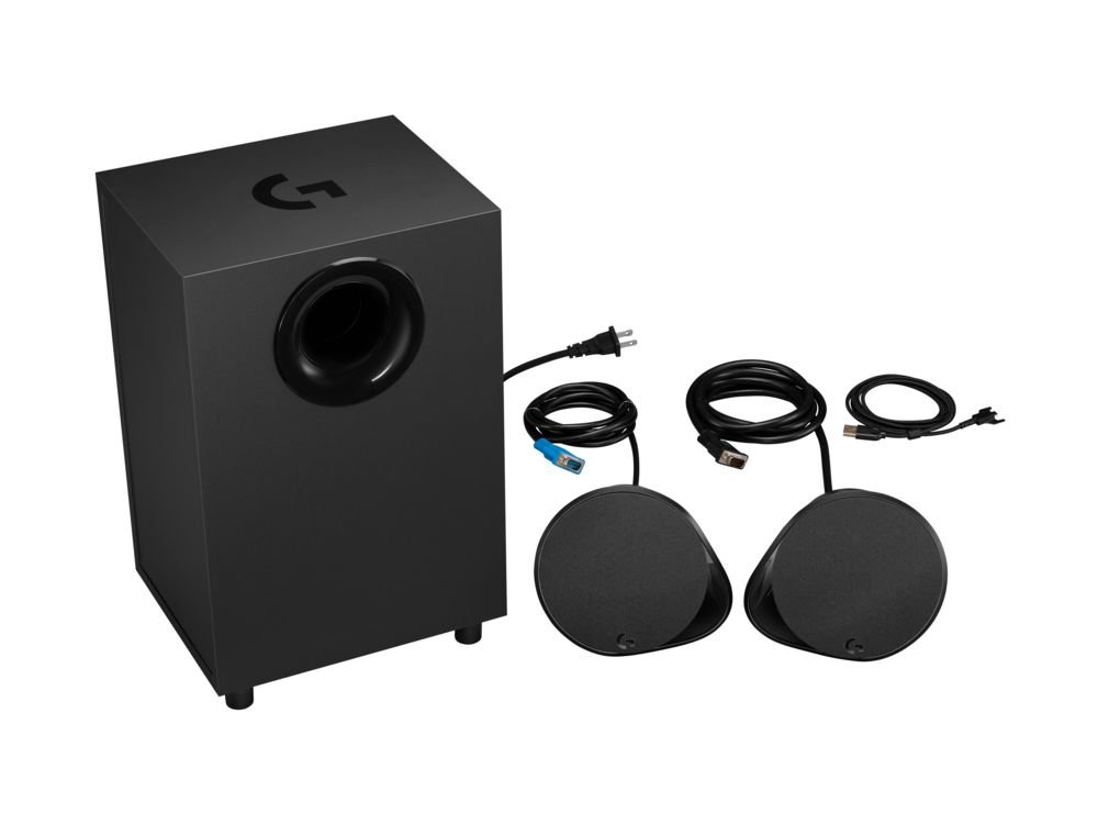 51VyKdEgZcL - Logitech G560 PC Gaming Ultra Surround Sound Speakers with Game Driven RGB Lighting, UK Plug