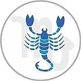 Etaia 8 cm - rund geschnitten - Autoaufkleber Skorpion Sticker Aufkleber fürs Auto Motorrad Decal Sternzeichen Horoskop Sternkreiszeichen