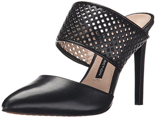 French Connection Mollie Damen Spitz Leder Stöckelschuhe Black/Black