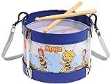 Bolz 52623 - Blechtrommel Biene Maja, Ø 17 cm, Kindertrommel aus Blech mit 2 Schlägel und Tragegurt, Instrument für Kinder ab 3 Jahre, Schlaginstrument, Musikinstrument, Trommel mit Bienchen Maya