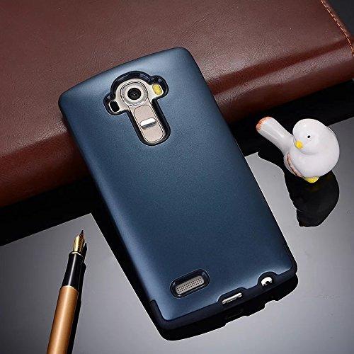 YHUISEN LG G4 Case, 2 In 1 PC + TPU Armor Hybrid Dual Layer Schutz Schock Absorption Hard Back Cover Case für LG G4 ( Color : Rose Gold ) Navy Blue