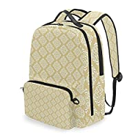 PENGTU Moroccan Traditional Girih Star Print School Backpack with Removable Pencil Case,2 in 1 Travel Daypack Fits 15 Inch Laptop for Girls or Boys