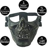 RUIBUY Halloween Maske Paintball Schutzausrüstung Half Face Airsoft Maske Schädel