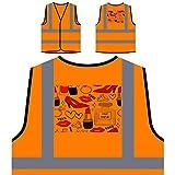 Nuevo Perfume De Los Labios De La Manera París Chaqueta de seguridad naranja personalizado de alta visibilidad m554vo