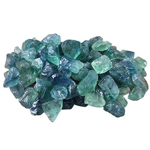 rohe Edelstein Quarz Kristall Stein Masse Heilstab Reiki Chakra Meditation Therapie Schutz Amulett - 10 Stück, grün ()