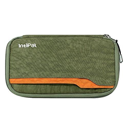 IntiPal RFID Reiseorganizer Dokumententasche Wasserabweisend Reiseetui Reisepasshülle Reisebrieftasche Reisemappe Test