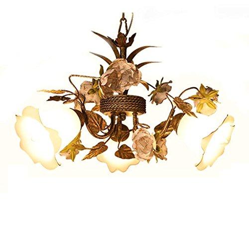 Jffffwi lampadario americano sclstoral ristorante tre lampadari sala scala ferro antico decorazione floreale lampade