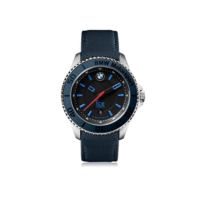 Ice-Watch - BMW Motorsport (Steel) Dark & Light BE - Blau Herrenuhr mit Lederarmband