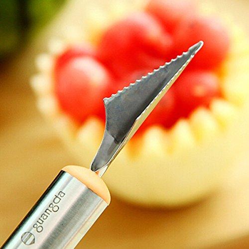Souked Fruit Schnitzmesser Wassermelone Hami Melone Kugeln Eis Ein Löffel
