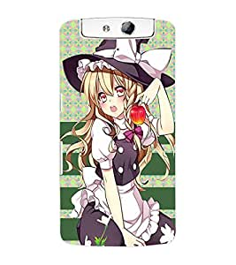 ColourCraft Cool Girl Back Case Cover for OPPO N1