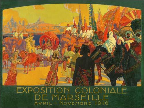 Acrylglasbild 160 x 120 cm: Die nationale Kolonialausstellung, Marseille, April-November 1916, 1922 von David Dellepiane / Bridgeman Images - Wandbild, Acryl Glasbild, Druck auf Acryl Glas ()