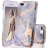 GopeE IPhone 7 Plus Case,iPhone 8 Plus Case, Marble Design Clear Bumper TPU Soft Case Rubber Silicone Skin Cover For IPhone 7 Plus (2016)/iPhone 8 Plus (2017) - B07H1DL94H