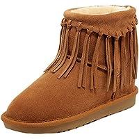 ELEHOT Donna Elefancya senza tacco 2CM Leather Stivali