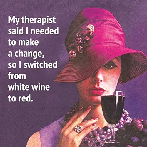 My Therapist Said Cocktail-Servietten, klassisches Design, für Weintrinker, 20 Stück - Für Frauen Hüte Klassische