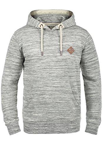 !Solid Kevin Herren Kapuzenpullover Hoodie Pullover Mit Kapuze Und Fleece-Innenseite, Größe:M, Farbe:Light Grey Melange (8242)