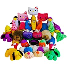 Paquete de 10 x juguetes de peluche surtidos (peluches, plátanos, ballenas, pingüinos