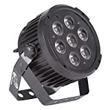 ETEC LED Compact PAR 7 Scheinwerfer 7x10 Watt RGBWA+UV 6in1 Floorsport Uplight Effektscheinwerfer DJ Club Party