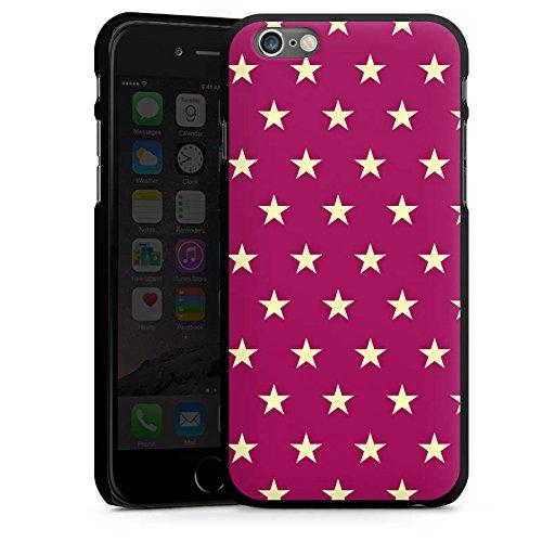 Apple iPhone 5s Housse Étui Protection Coque Étoiles Petite étoile Polka CasDur noir