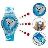 Orologio bambina ragazze Zeiger Orologio impermeabile Time Teacher al quarzo orologi per bambini gemelli ragazze Orologio sportivo per ragazzi ragazze per 5-12 anni (Blu Heart)