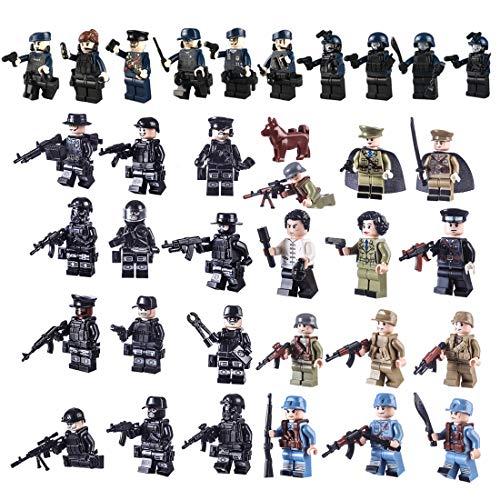FutureShapers 34St. Mini Figure Set SWAT Team Police Minifigure Set Building Blocks per Bambini