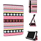 Kroo Classic Protective Tablet Case with Stand for Amazon Kindle Fire HD 8.9,Universal fits with Rubber Gripsl in Pink - Light Blue