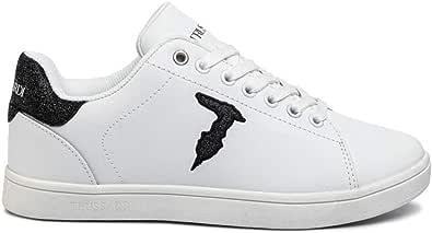 Trussardi Jeans 79A00469 Bianco Nero Sneakers Donna Scarpa Sportiva