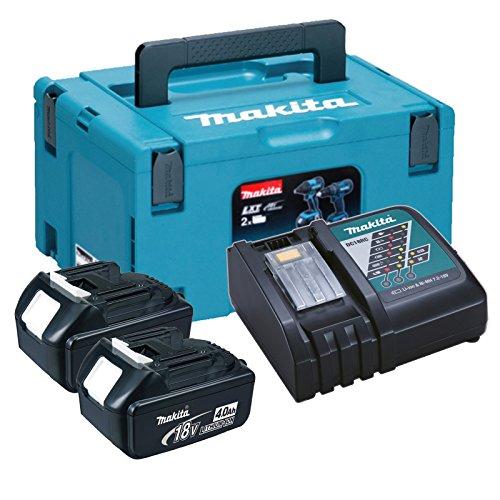 Preisvergleich Produktbild Makita Power Source Kit 18V / 2x 4,0 Ah Akku (BL1840 - 196399-0) im MAKPAC Gr. 3 (P-02381) + Ladegerät (DC18RC - 195584-2)