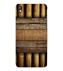 ColourCraft Bamboos Pattern Design Back Case Cover for HTC DESIRE 816