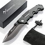 BERGKVIST Taschenmesser K9 I Scharfes Outdoor Messer mit ebook I Jagdmesser & Survival Knife mit...