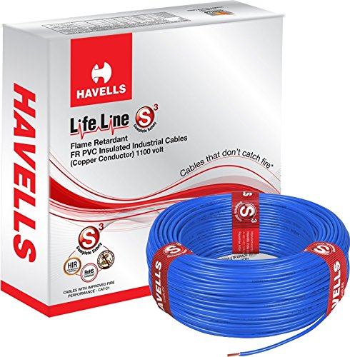 Havells Lifeline Cable WHFFDNEA1X75 075 Sq Mm Wire Grey Amazon