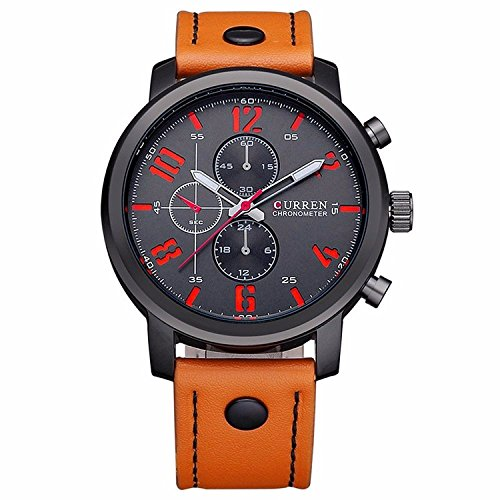 koiikor-curren-mens-98ft-30m-water-resistant-analog-quartz-watch-with-dial-analogue-display-and-leat