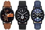 Limestone Analogue Multi-Colour Dial Men...