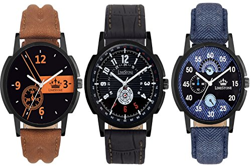 Limestone-Analogue-Multi-Colour-Dial-Mens-And-Boys-Watch-Ls263326342643